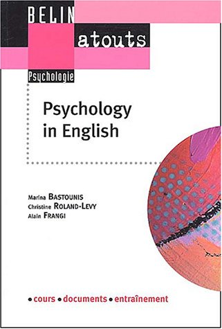 Psychology in english : Méthodes de recherche et communication scientifique