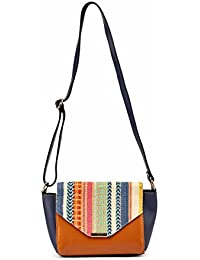 2AM Women's Leather Sling Bag( Brown) - B078WW4WHJ