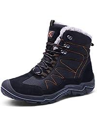 GJRRX Hombre Aire Libre Zapatos Impermeable Antideslizante Calientes Botines Planas Botas de Nieve Invierno Forro Calentar Tobillo Al Aire Libre Zapatillas Altas Outdoor Antideslizante Sneakers 38-46