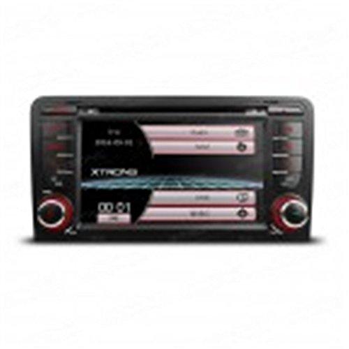 Radio/DVD/Pantalla Táctil, navegador GPS, Bluetooth compatible con Audi A3/S3
