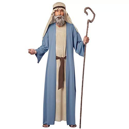 thematys Jesus Schaf-Hirte Kostüm-Set für Herren - perfekt für Cosplay, Karneval & Halloween - Einheitsgröße - Lustige Jesus Kostüm