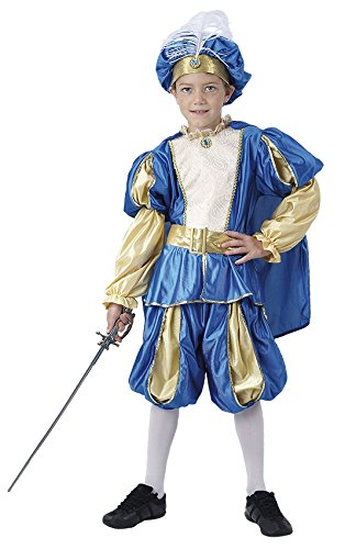 KINDERKOSTÜM - PRINZ - Größe 130-140 cm, Blauer Prinz Hoheit Traumprinz mittelalterlich