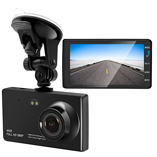 UFFD 4 IPS Dual Lens Car Dash Cam FHD 1080P Dashboard Camera