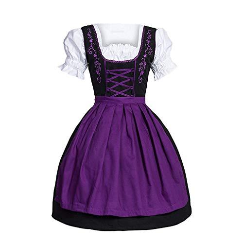 MEIHAOWEI Kostüm Mittelalter Renaissance Vintage Bandage Lady Bauer Kleid Mädchen viktorianischen Kleid für Party - Steampunk Viktorianische Lady Adult Kostüm