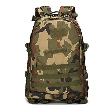 ZC&J Outdoor 36-55L camouflage de haute capacité alpinisme camping tactique randonnée pédestre randonnée, Oxford tissu solide résistant à l'usure sac à dos réglable,A,36-55L