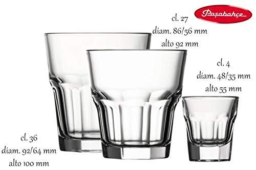 Pasabahce 52734 L Casablanca Bicchieri Vetro da Liquore 3.7 cl 12 unità
