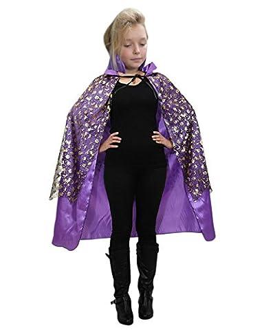 De13/00 Hexen Umhang Dracula Cape Kostüm für Halloween, Kostüme für Kinder, Faschingskostüm, (Draculas Frau Kostüm)