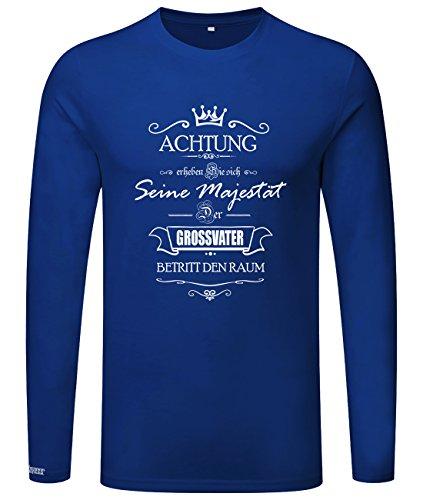 Seine Majestät der Großvater - erheben Sie sich - Herren Langarmshirt Royalblau