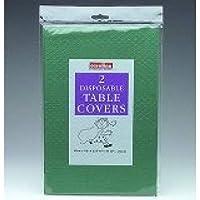 DARK GREEN Paper Tablecloths 2 per pack (Caroline){90cm x 90cm}