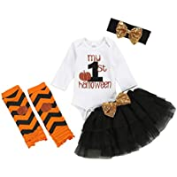 Princesa Vestido de Fiesta Niña Conjuntos de Falda de tutú sólido para niñas pequeñas y bebés con Estampado de Halloween para niños pequeños