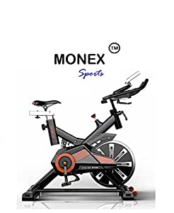 Monex Spin Bike RU-709| Exercise Fitness Spin Bike| Spine Fitness Equipment| Exercise Cycle For Home Gym| 20kg Flywheel| Indoor Cycle| Trainer Fitness Bike| Commercial Gym Bike (Imported)