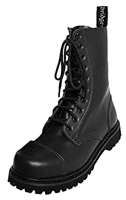 Knightsbridge Gothic Style Combat Boots for him and her (10 Hole/37/UK3)