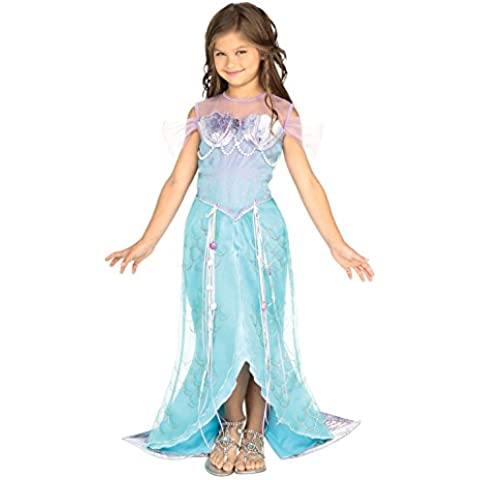 Girls Blue Mermaid Princess Fancy Dress Costume 5-7 Yrs (disfraz)