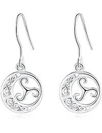 0cbe3fbadad8 Pendientes de gota de plata de ley 925 con diseño minimalista para orejas  sensibles