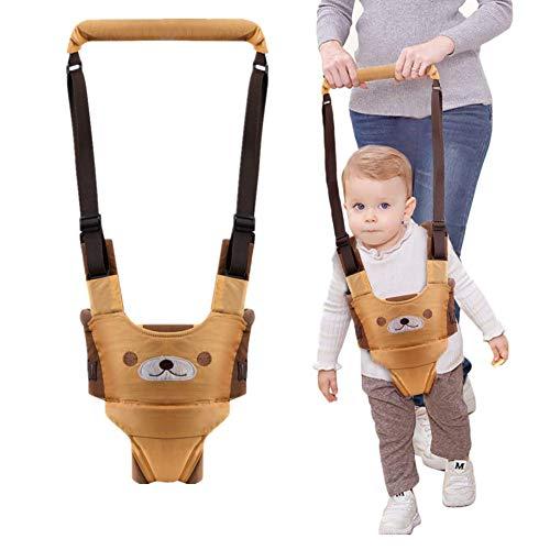 Arnés de Seguridad para Caminar Ajustable Arnés de Bebe a Pie de Caminado Aprendizaje Chaleco Arneses para Niños Andador Arnés Tirantes Con Correa y Hebilla de Bebé Protección 6-27mese (amarillo)