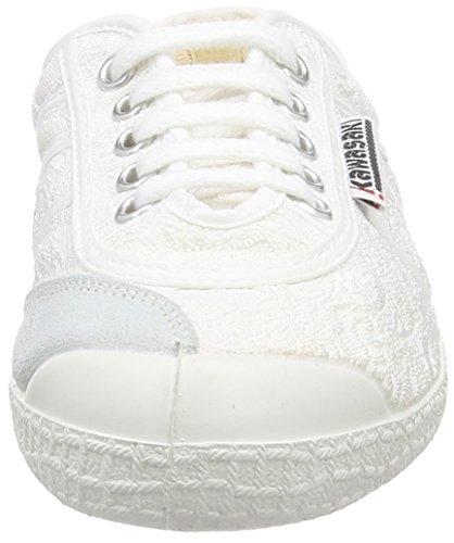 Kawasaki Basic Fantasy, Baskets Basses mixte adulte Blanc - Weiß (White Vanessa)