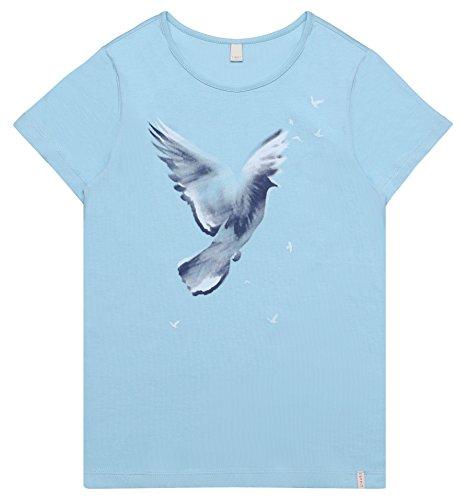 ESPRIT Mädchen T-Shirt RL1016502, Türkis (Aquarius 437), 152 (Herstellergröße: M) (T-shirt Freiheit Kinder Die)