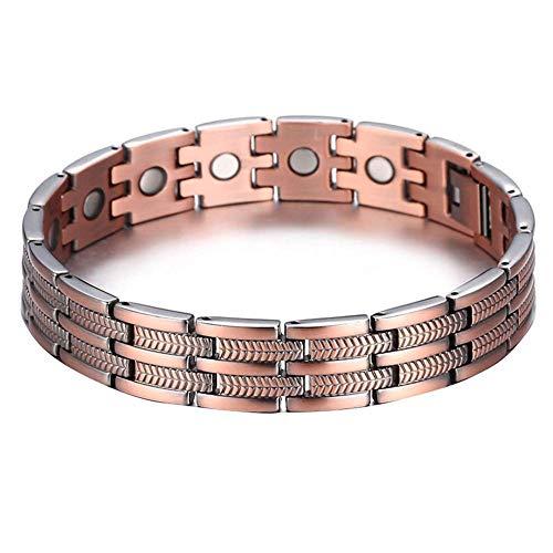 BD.Y Magnet-Therapie-Armband für Männer, Kupfer-Magnet-Armband für Arthritis Pain Relief Wristband einstellbar