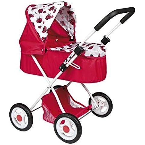 ColorBaby - Carrito de paseo con capota, color rojo con mariquitas (43113)