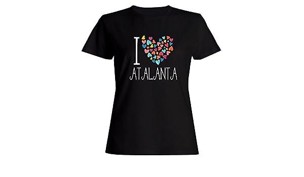 Idakoos I love Atalanta colorful hearts Felpa con cappuccio