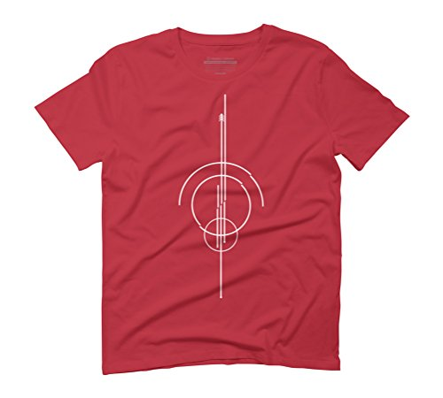 Futuristic Men's Graphic T-Shirt - Design By Humans Red