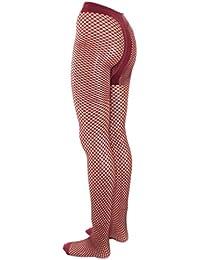 Damen Netzstrumpfhose mit T-Band, Farben alle:18 bordeaux;Größe:L