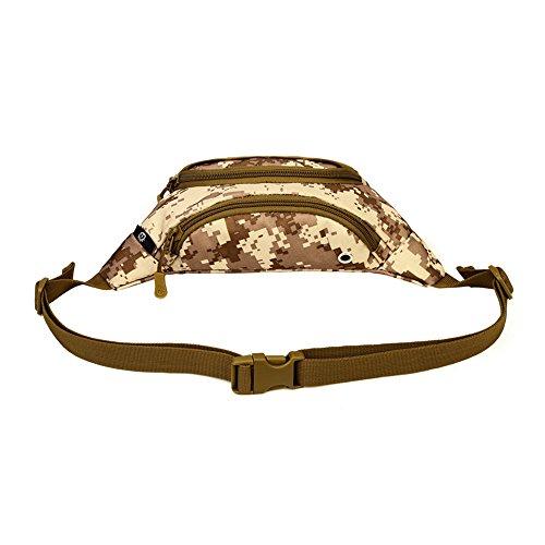 cedaract Military Outdoor Tasche Taille Tasche Fanny Pack Hip Pack Gürteltasche für Mann Frauen Sport Reisen Laufen Wandern DD