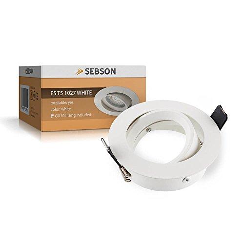 SEBSON Einbauleuchte schwenkbar weiß / Einbaustrahler (LED / Halogen)