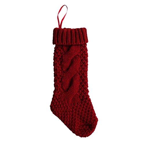 Zolimx Decorazione natalizia calze autoreggenti I regali Calzino Decorazioni d'attaccatura (Rosso)
