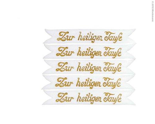 Wiedemann Verzierornament Schrift zur Heiligen Taufe, Wachs, Gold, 1, 0 x 6, 00 x cm, 1 Einheiten