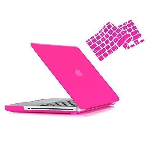 RUBAN-Pro 15Zoll mit CD-ROM 2in 1Hard Case und Tastatur Cover für MacBook Pro A128638,1cm (Fall nicht für Retina-Display) hot pink Macbook Pro 15