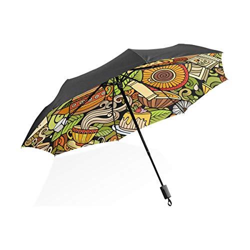 Windschirm Grüner Tee Blatt Gesunde Tragbare Kompakte Taschenschirm Anti Uv Schutz Winddicht Outdoor Reise Frauen Totes Regenschirm Groß -