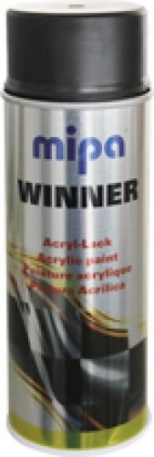 Preisvergleich Produktbild Mipa Winner Acryl-Lack Spraydose schwarz matt / kontrollschwarz (400ml)