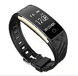 LJXAN Fitness-Tracker HR, Activity Tracker Watch Smart Armband S2 Smart Heart Rate Armband Dynamische Herzfrequenz-Überwachung Multi-Mode-Schritt Informationen Push Reminder,Black