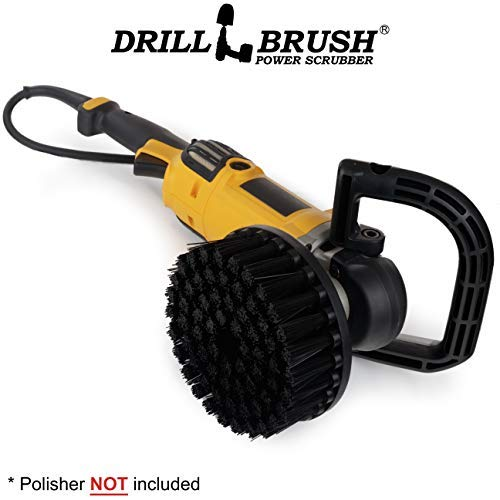 Drillbrush Stiff 7 Inch Bürste Wird an Variable Speed   Buffer Rotary w/Locknut Befestigung Kit - Draht-bürste Kit