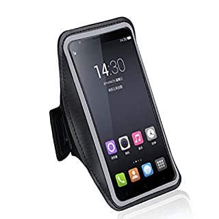 DFV mobile - Armband Professional Cover Neoprene Waterproof Wraparound Sport with Buckle for => AUDIOLINE POWERTEL M9500 > Black