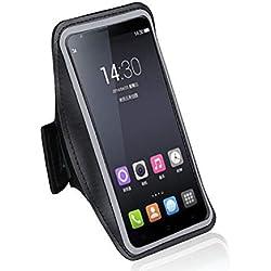 DFV mobile - Armband Housse Néoprène étanche Réglable Brassard de Neoprene Sport GymCompatible avec HTC Legend - Noir