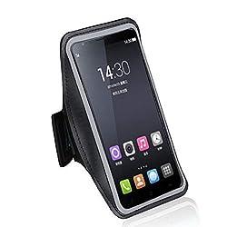 DFV mobile - Armband Professional Cover Neoprene Waterproof Wraparound Sport with Buckle for => LG X210ULMA K SERIES K8+ 2018 ACG > Black