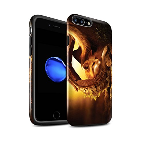 Officiel Elena Dudina Coque / Brillant Robuste Antichoc Etui pour Apple iPhone 8 Plus / Félins/Léopard/Guerrier Design / Les Animaux Collection Jacinthe