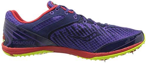 Saucony , Chaussures d'athlétisme pour homme multicolore US violet / Rouge / Citron