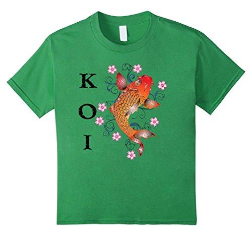 Kids Beautiful Koi Fish T-shirt Boys Girls Youth Child Pond Kinder, Größe 152 Grün