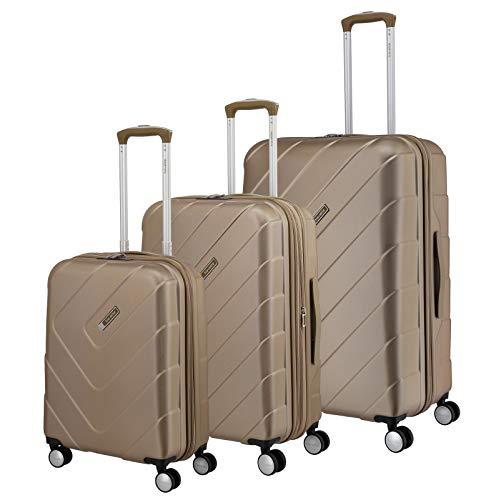 """Travelite Hartschalen-Koffer-Serie \""""KALISTO\"""" von travelite in 4 Farben: topmodisch, elegant, robust, 76 cm, 216L, Champagner"""