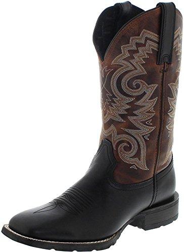 13 Schwarze Größe Stiefel Cowboy Männer (Durango Boots Mustang DDB0081 Black Brown/Herren Westernreitstiefel Schwarz/Westernstiefel/Herrenstiefel, Groesse:47 (13 US))