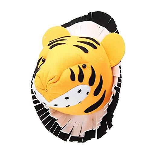 SODIAL Tiger 3D Filz Tier Kopf Figuren Statuen Ornamente Für Geburtstags Feier Weihnachten Kinder Zimmer Wand Behang Dekor Geschenk
