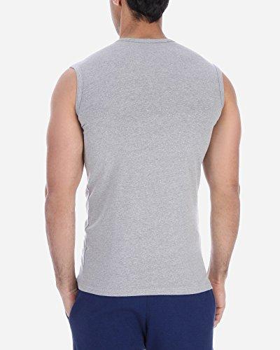 Solo®, muscle t-shirt für Herren, Slim-fit, elastische mit V- Ausschnitt - Herren Business Unterhemd, Komfortabel und sehr weich Tank Top. sportliche Freizeit Outfit. Grey