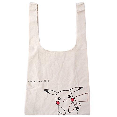 JP Products Einkaufstasche aus Segeltuch, Pokemon Pikachu up