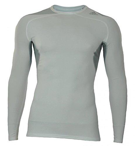 Adidas Techfit Cool langarm Shirt weiß M (Langarm-shirt Weißes Adidas)