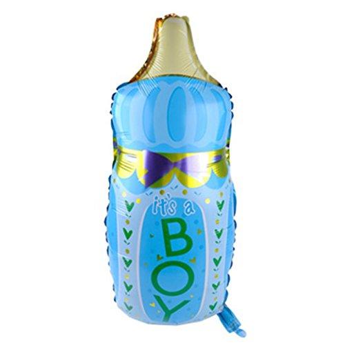 Blue Vessel Folienballon Party Dekoration Bottle Ballon Girl Boy Baby Shower Christening Birthday Party Flasche Luftballons Kindergarten Decoration (blau)