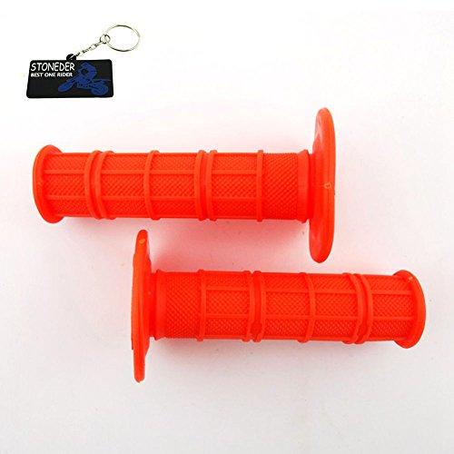 Stoneder arancione durevole morbido gomma acceleratore, manopole per pit sporcizia motore trail bike moto motocross