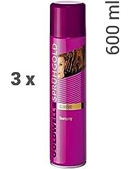 3er Set Goldwell Sprühgold Classic Haarspray 600 ml